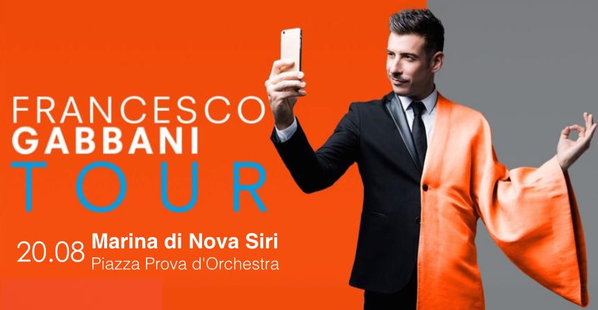 Francesco Gabbani Tour Nova Siri