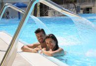 Resort con flussi idromassaggi
